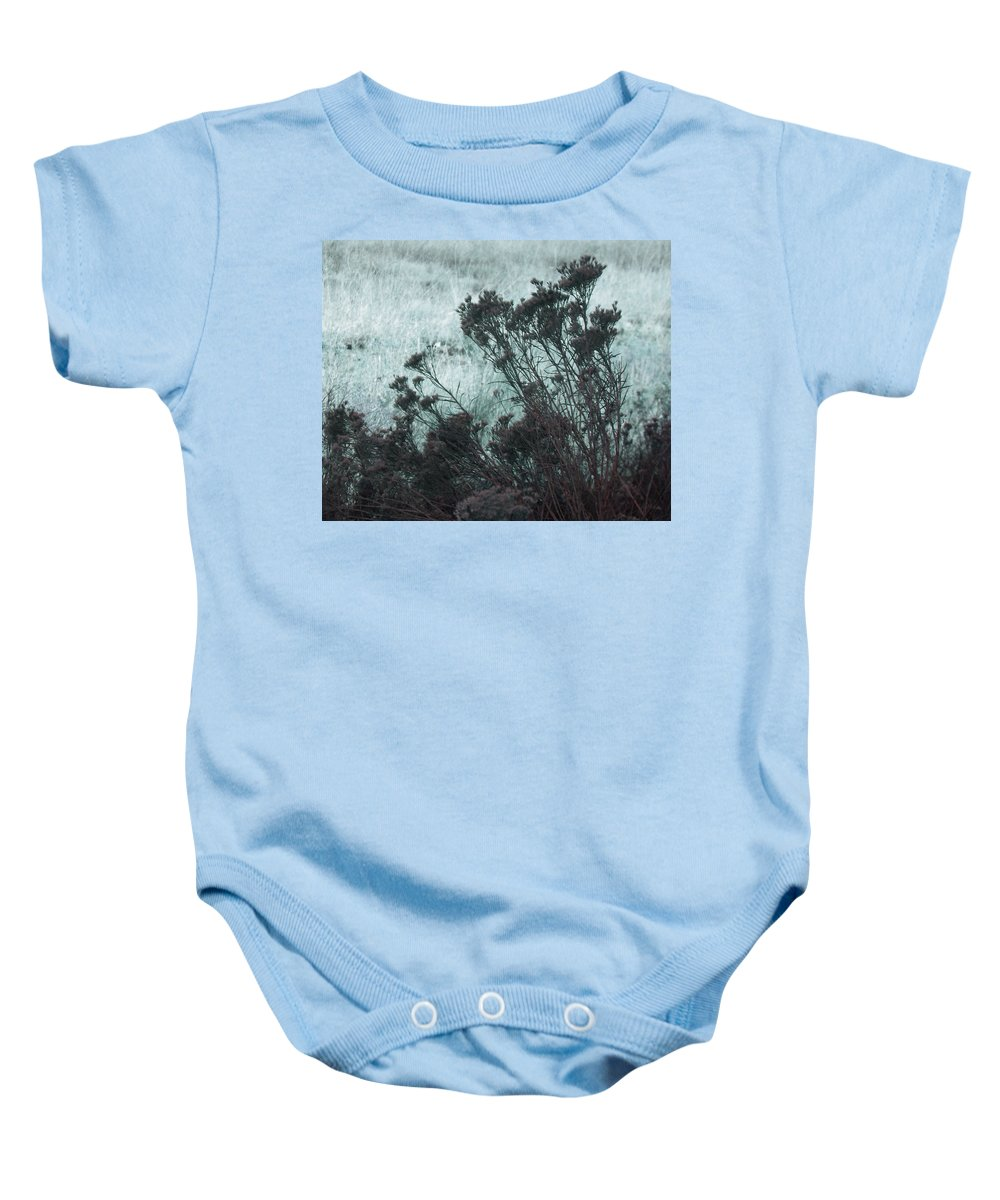 Abstract Baby Onesie featuring the digital art Light And Shadow by Lenore Senior
