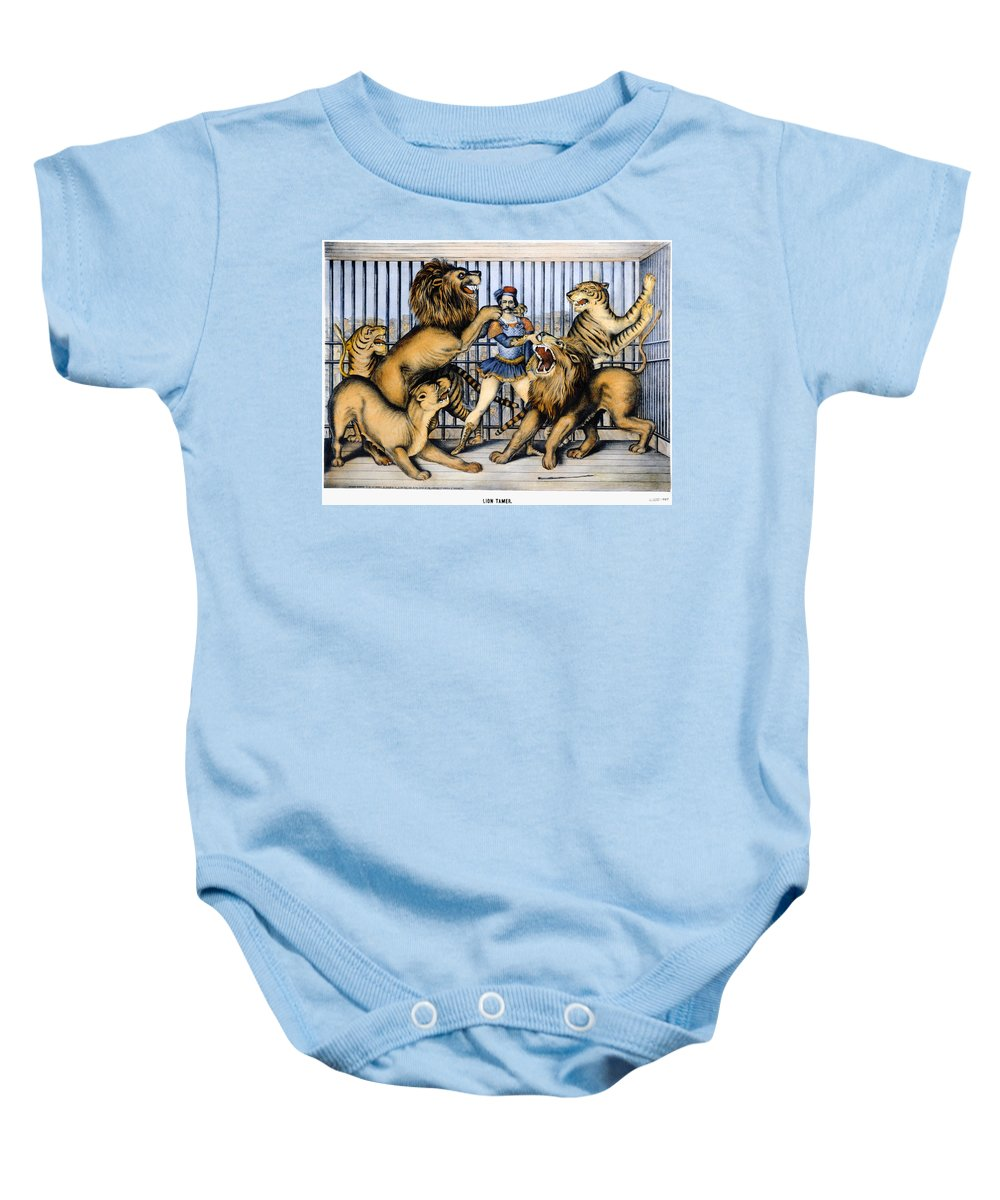 1873 Baby Onesie featuring the photograph Lion Tamer, 1873 by Granger