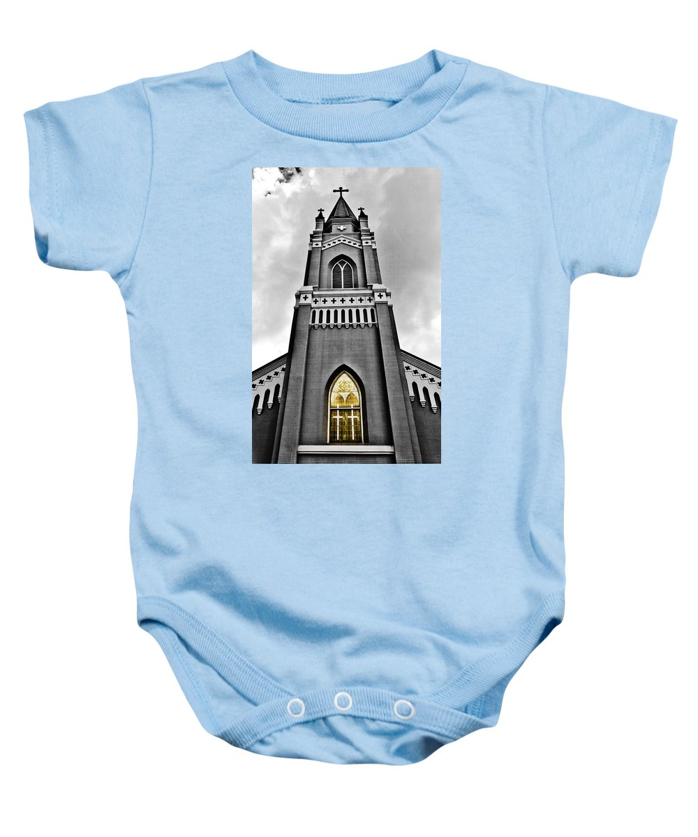 Church Baby Onesie featuring the photograph Looking Up by Scott Pellegrin