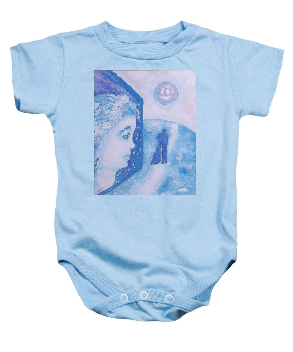 Love Baby Onesie featuring the painting Love 4 by Victoria Dutu