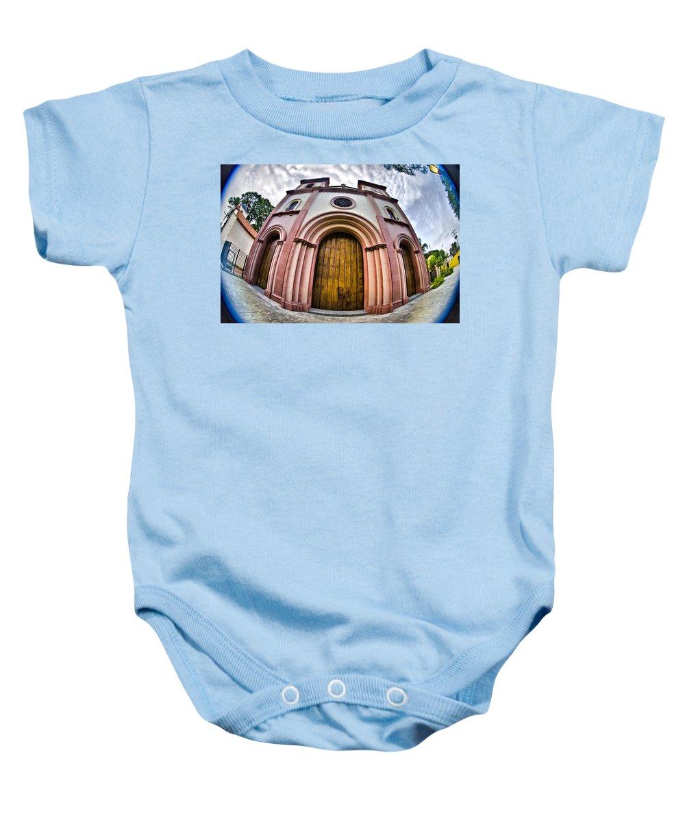 Iglesia De Nagauanagua Baby Onesie featuring the photograph Naguanagua Church by Galeria Trompiz