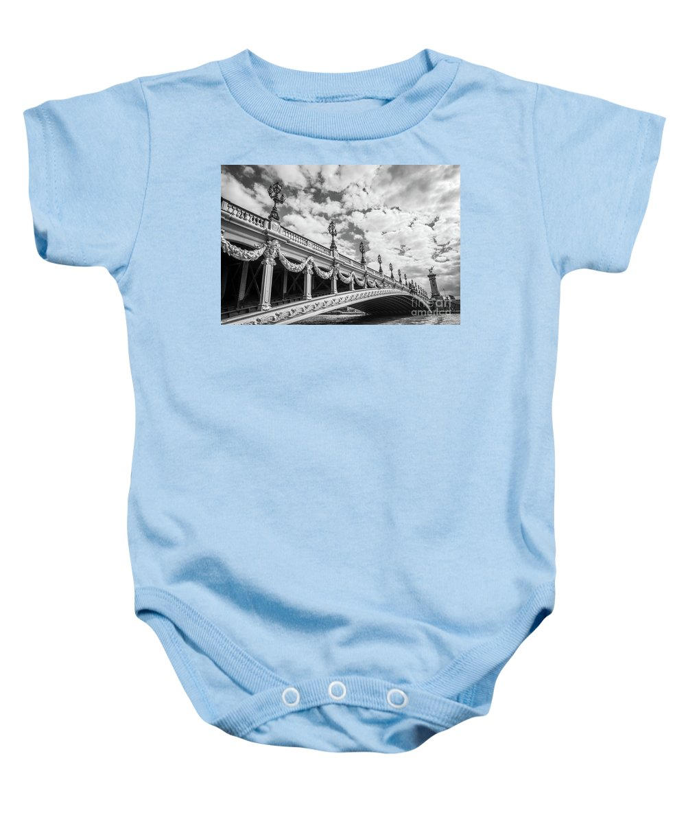 Paris Baby Onesie featuring the photograph Pont Alexandre IIi In Paris by Delphimages Photo Creations