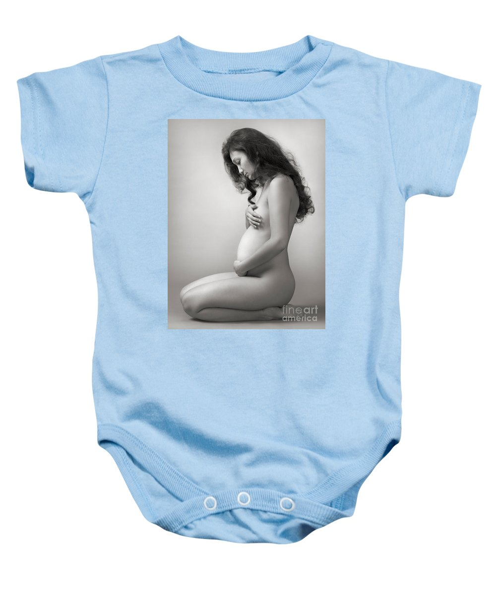 Pregnant Baby Onesie featuring the photograph Pregnant Woman by Oleksiy Maksymenko