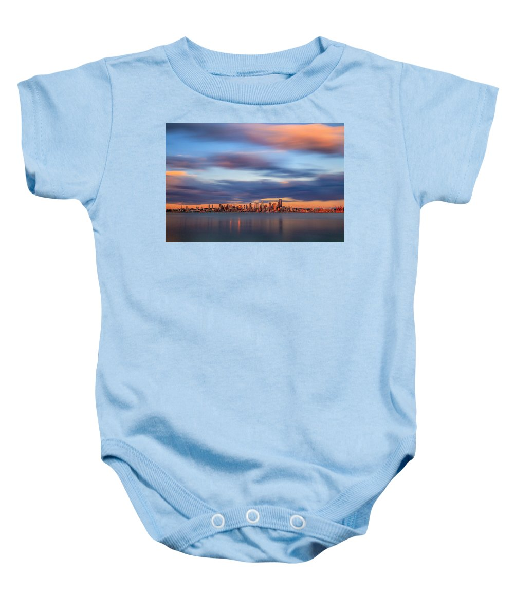 Waterfront Baby Onesie featuring the photograph Seattle 6 by Erik Lawrenz