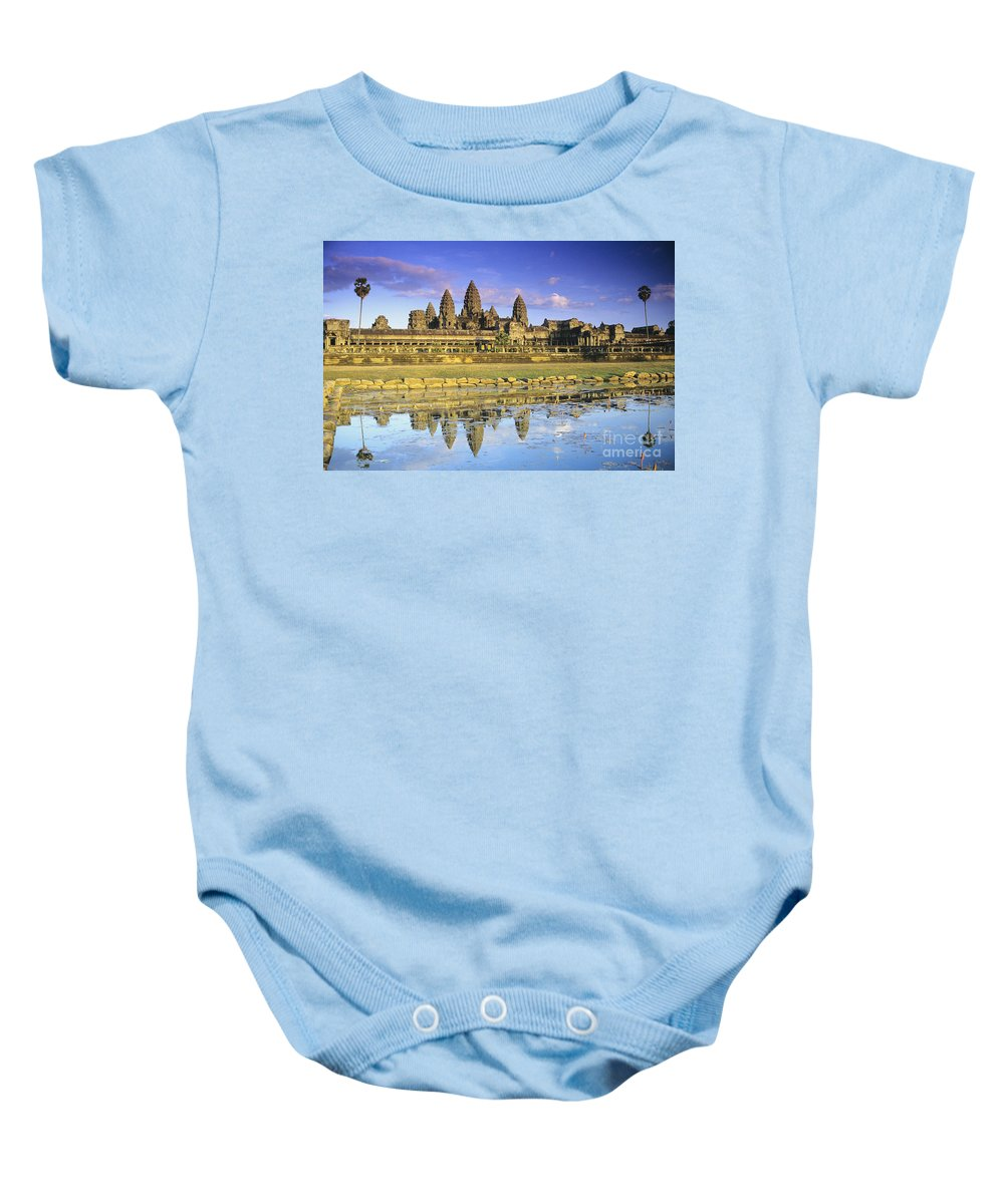 Ancient Baby Onesie featuring the photograph Siem Reap, Angkor Thom by Gloria & Richard Maschmeyer - Printscapes