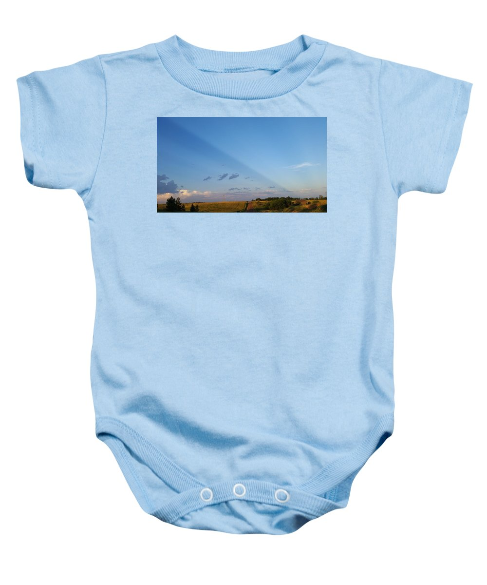Split Baby Onesie featuring the photograph sky by Olivia Hamner