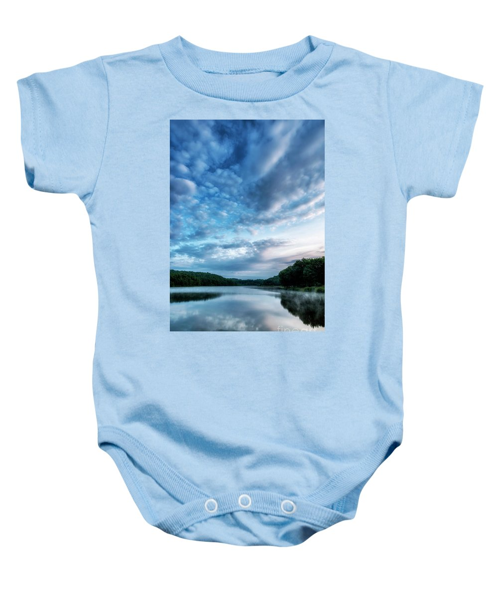 Big Ditch Lake Baby Onesie featuring the photograph Spring Morning On The Lake by Thomas R Fletcher