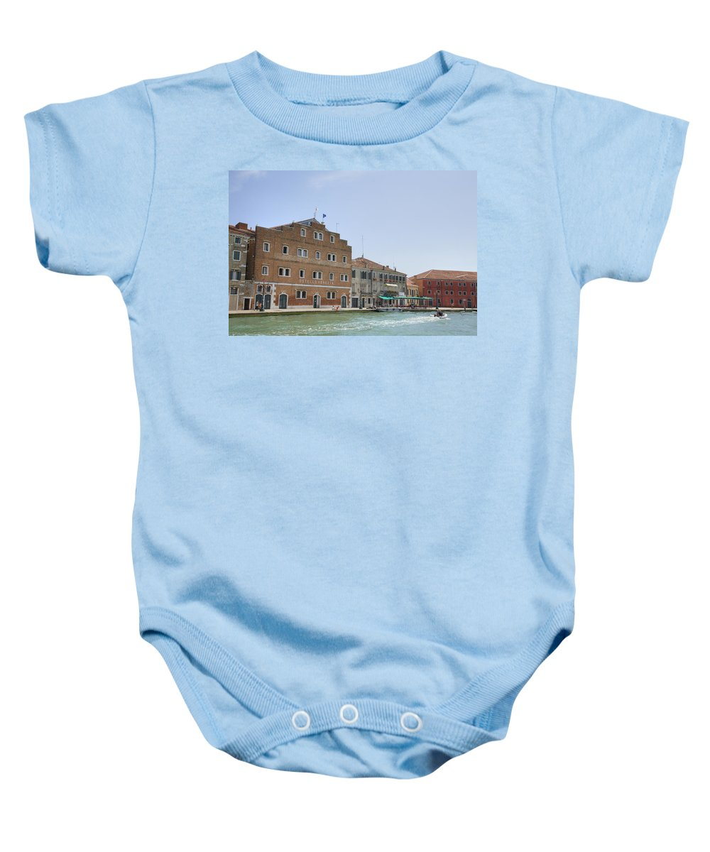 Venice Baby Onesie featuring the photograph Venice Italy by Ian Middleton