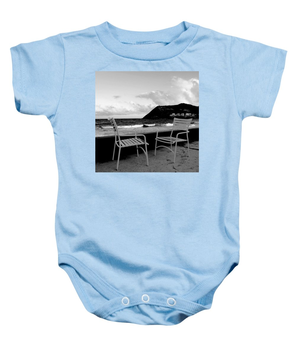 Ocean Baby Onesie featuring the photograph Waiting by Ian MacDonald