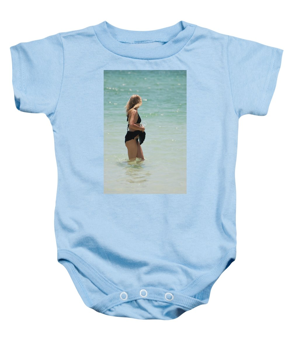 Nautical Baby Onesie featuring the photograph Water Lady by Rob Hans