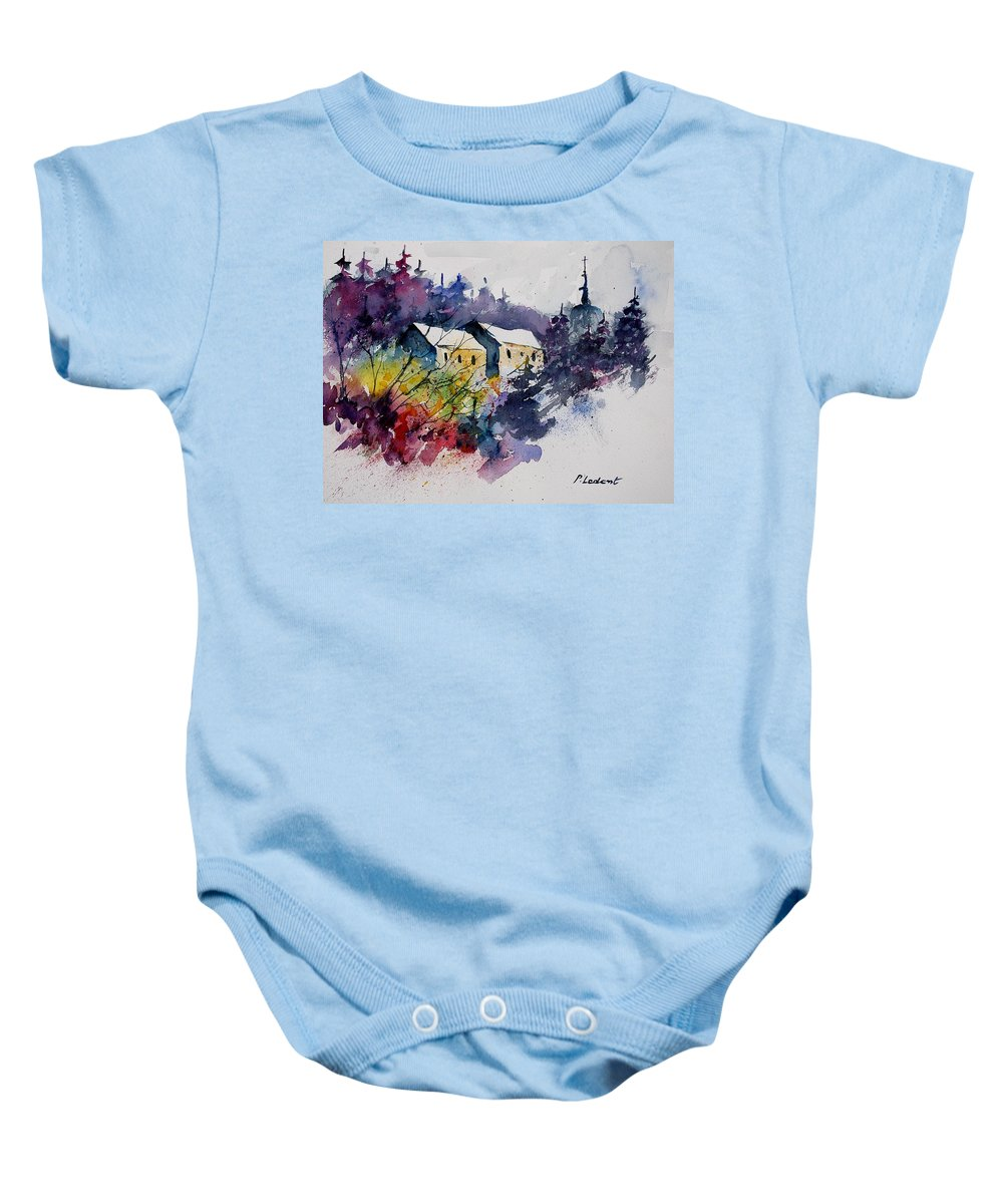 Winter Baby Onesie featuring the painting Watercolor 231207 by Pol Ledent