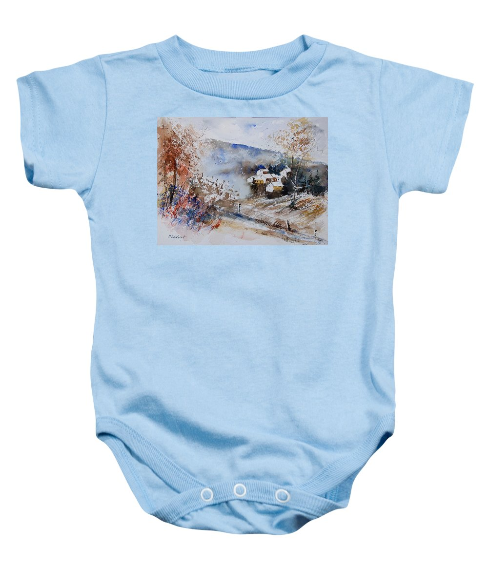 Winter Baby Onesie featuring the painting Watercolor 902091 by Pol Ledent