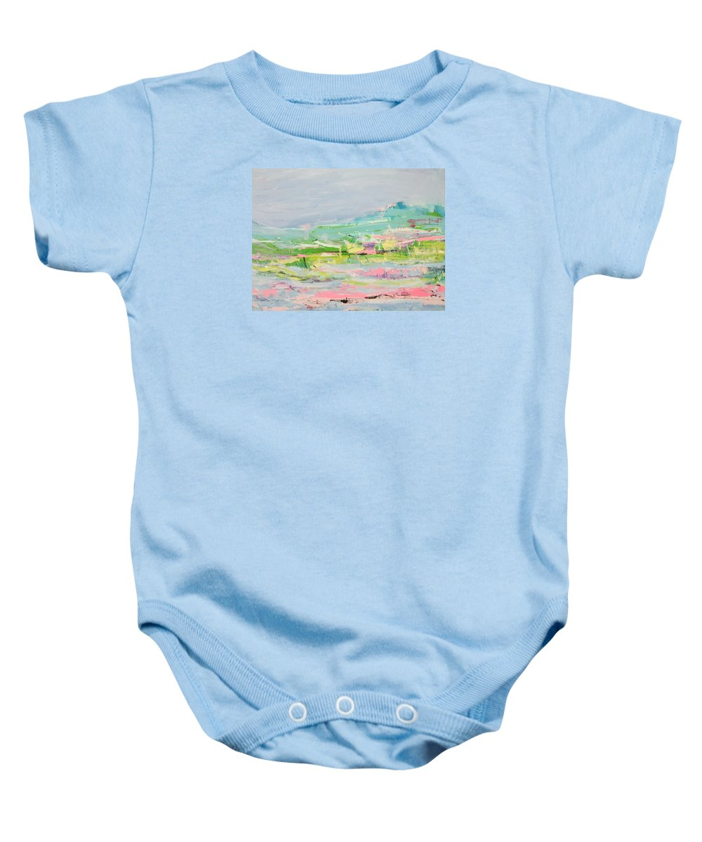 Landscape Baby Onesie featuring the painting Wishing You Were Here by Francine Ethier