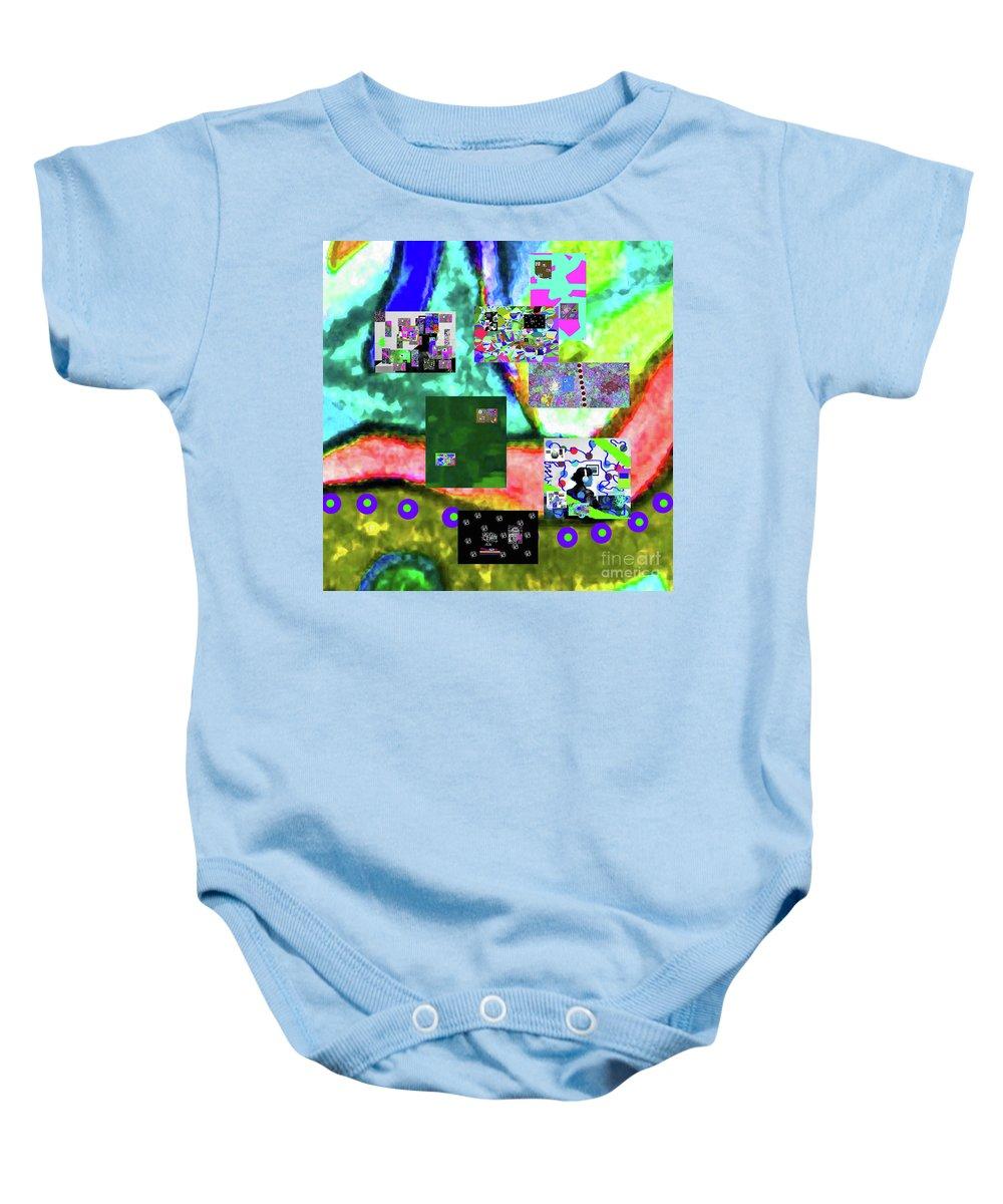 Walter Paul Bebirian Baby Onesie featuring the digital art 11-11-2015abcdefghijklmnopqrtuvwxyzabcdefghijk by Walter Paul Bebirian