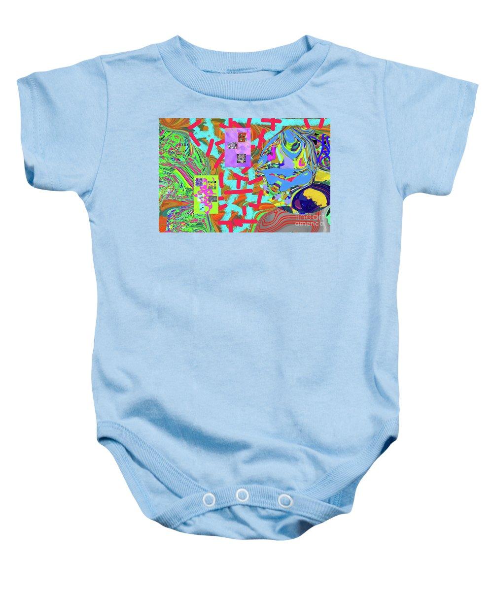 Walter Paul Bebirian Baby Onesie featuring the digital art 11-15-2015abcdefghijklmnopqrtuvwxyzabcd by Walter Paul Bebirian