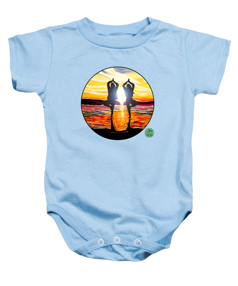 Surfing Baby Onesie featuring the painting Surf Art by W Gilroy