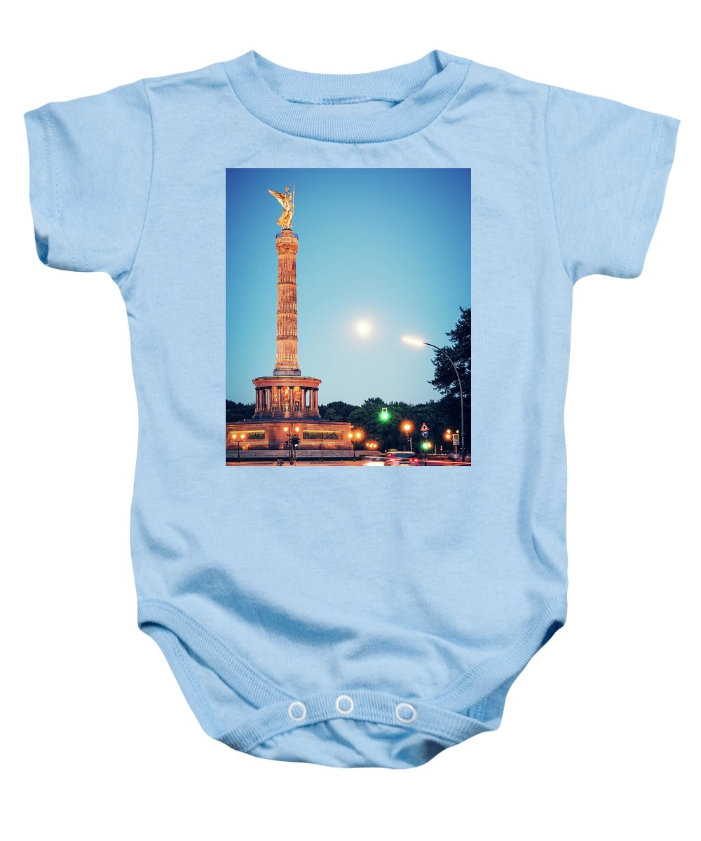 Berlin Baby Onesie featuring the photograph Berlin - Victory Column by Alexander Voss