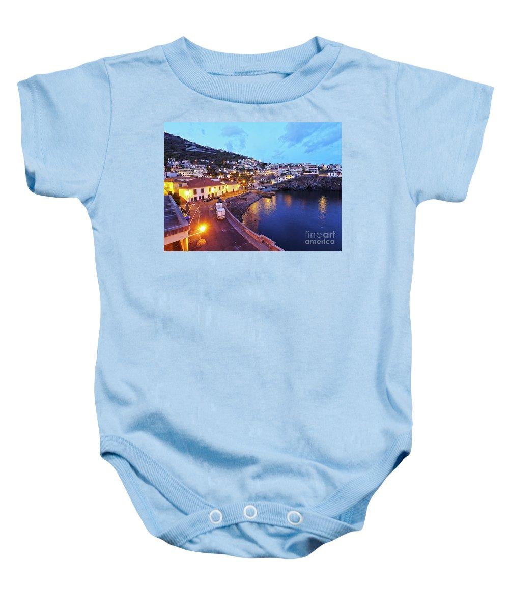 Portugal Baby Onesie featuring the photograph Camara De Lobos, Madeira by Karol Kozlowski