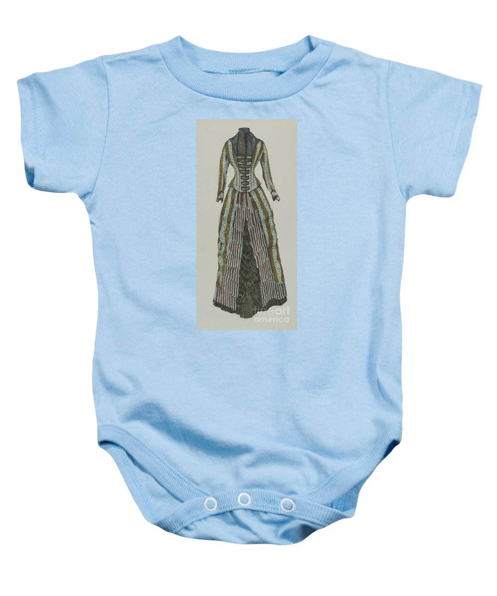 Baby Onesie featuring the drawing Dress by Ray Price