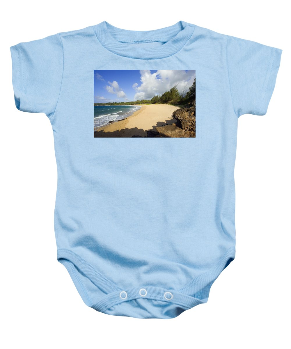 Beach Baby Onesie featuring the photograph Fleming Beach by Ron Dahlquist - Printscapes