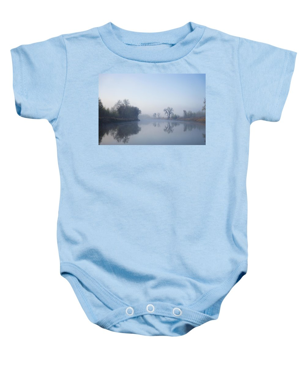 River Baby Onesie featuring the photograph Morning On Red River by Donald Erickson
