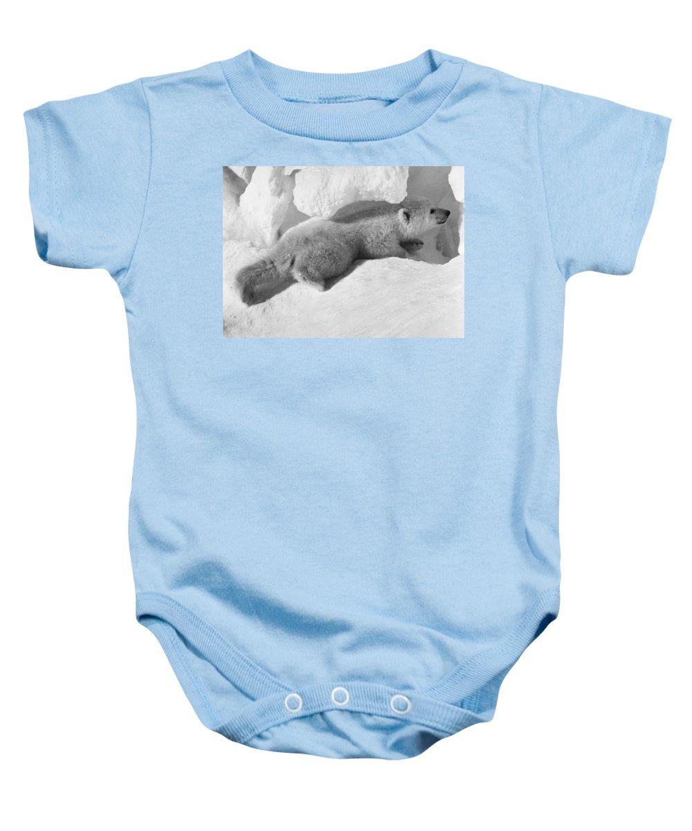 20th Century Baby Onesie featuring the photograph Polar Bear Cub by Granger