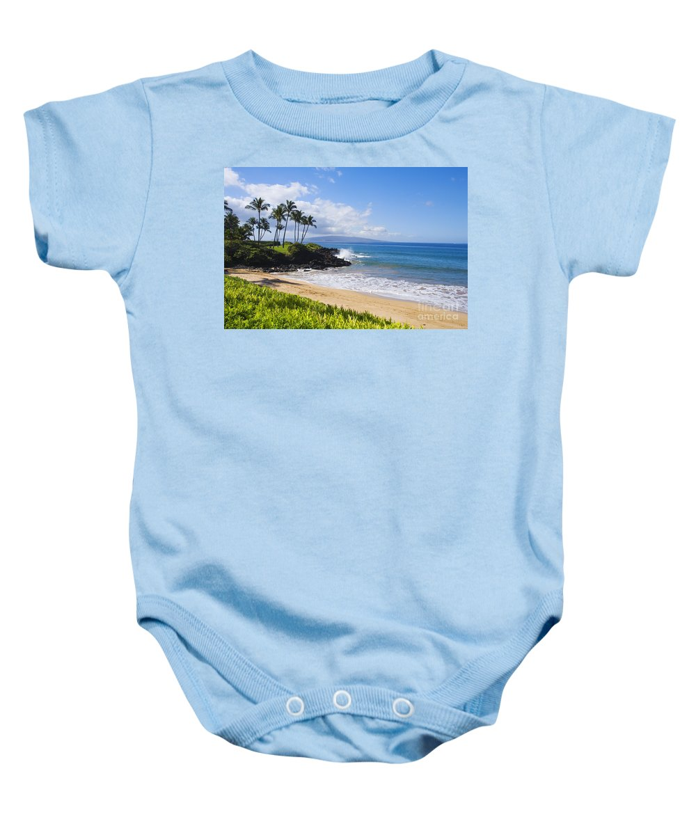 Beach Baby Onesie featuring the photograph Wailea, Ulua Beach by Ron Dahlquist - Printscapes