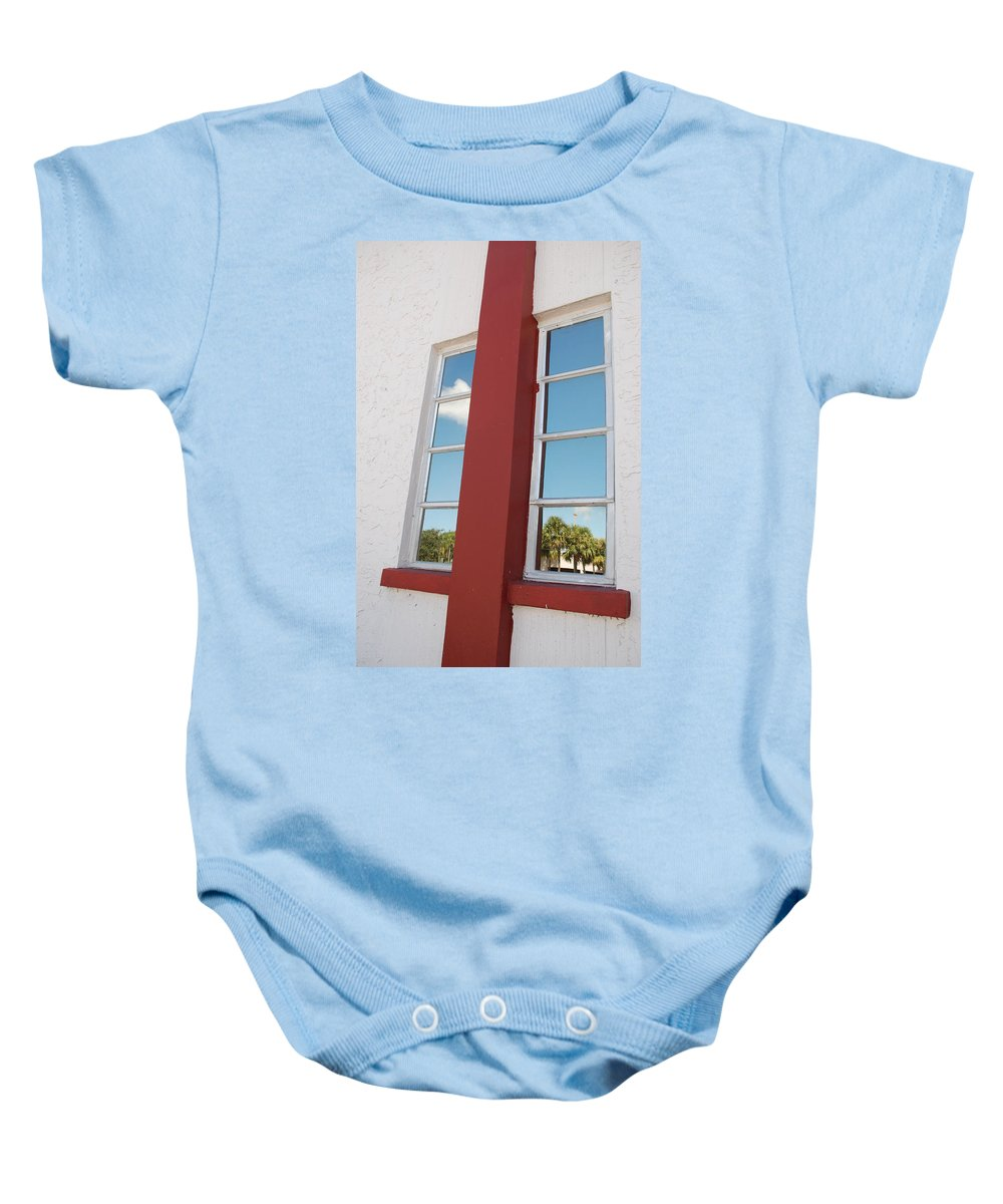 Sky Baby Onesie featuring the photograph Window T Glass by Rob Hans