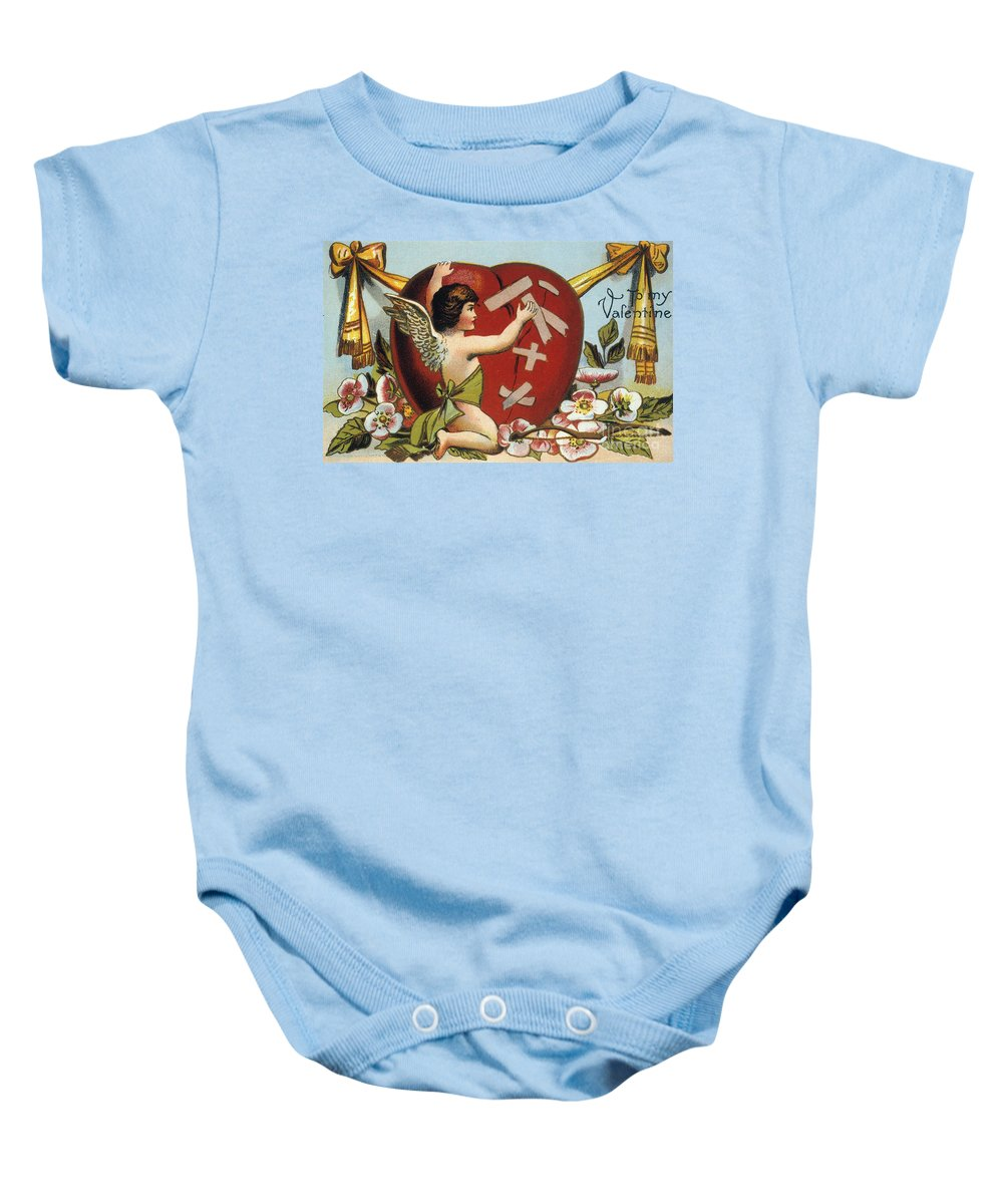 1914 Baby Onesie featuring the photograph Valentines Day Card by Granger