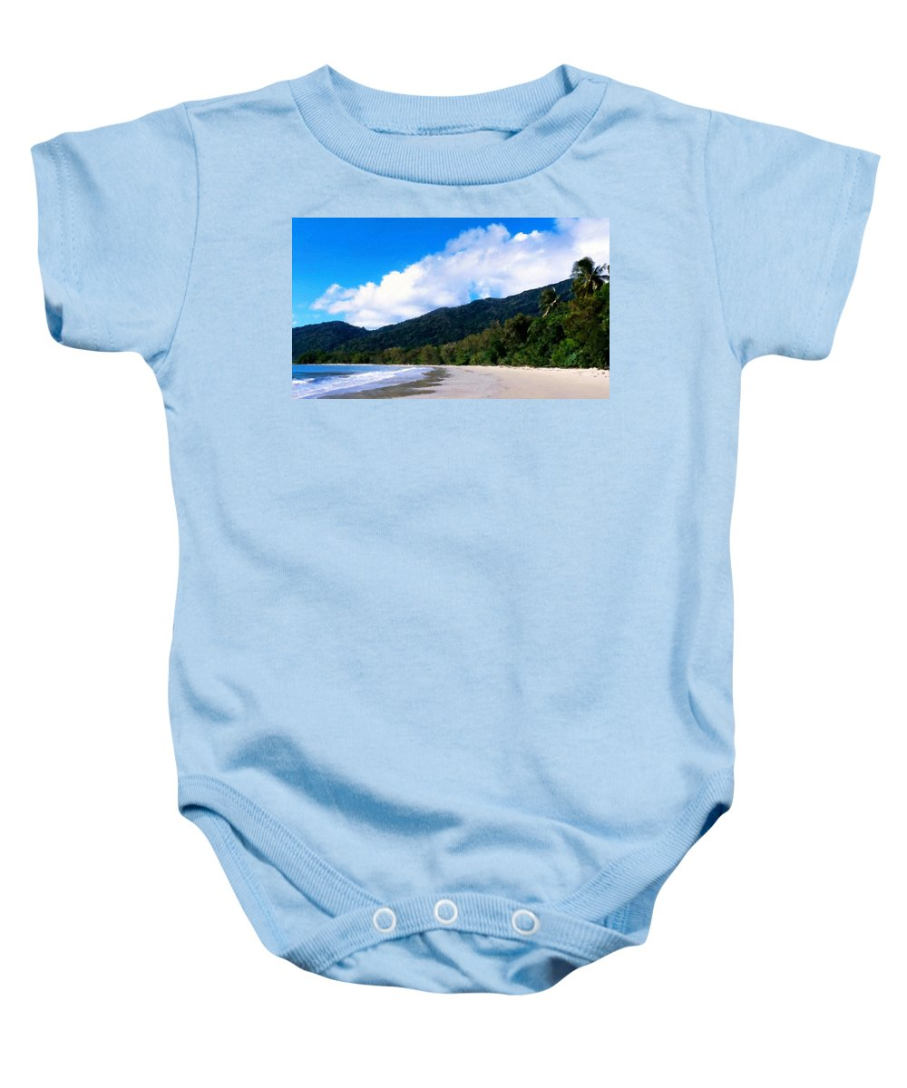 Painting Baby Onesie featuring the digital art Landscape Paintings Canvas Prints by Usa Map
