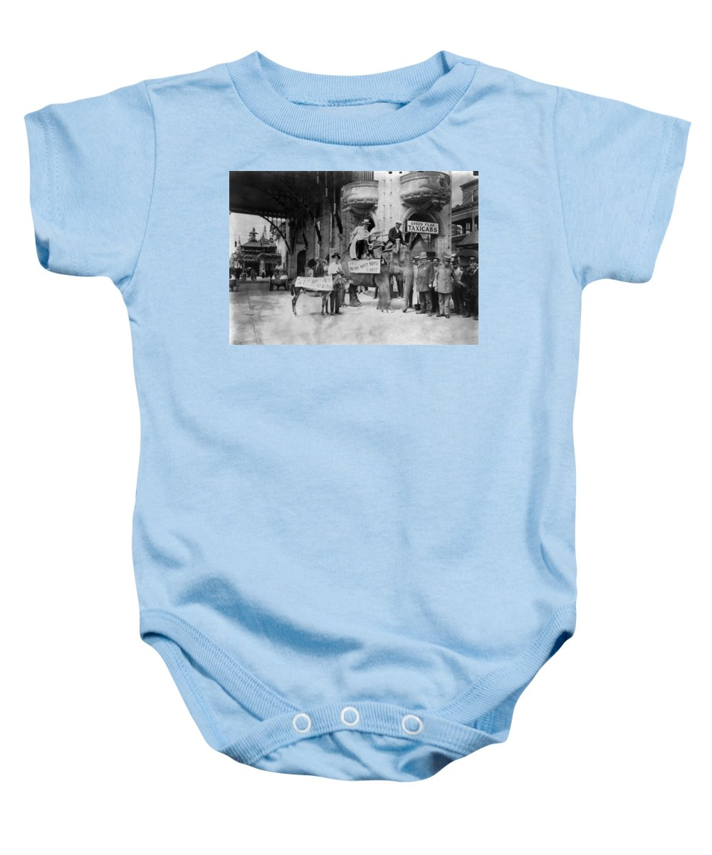 1911 Baby Onesie featuring the photograph Coney Island: Luna Park by Granger