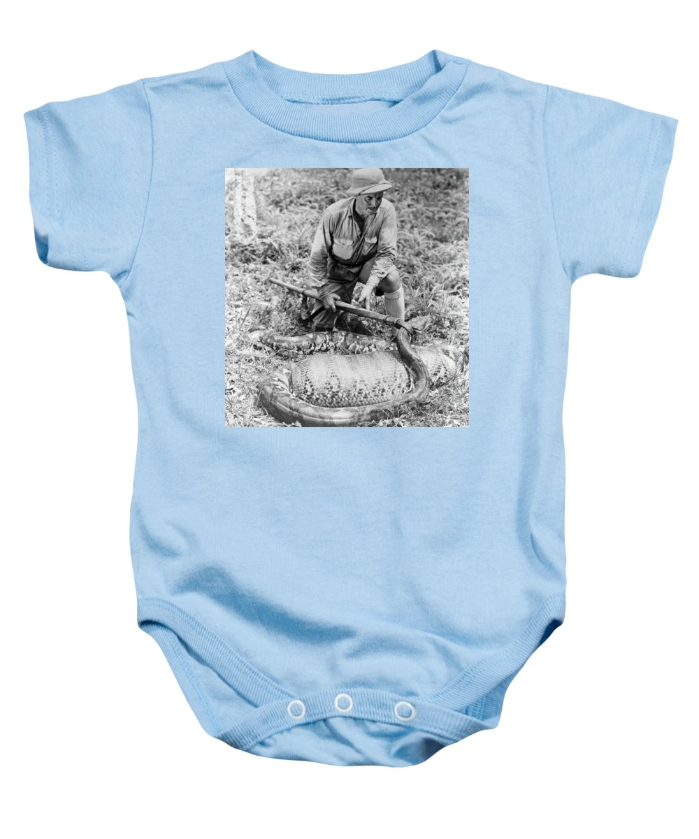 1934 Baby Onesie featuring the photograph Frank Buck (1884-1950) by Granger