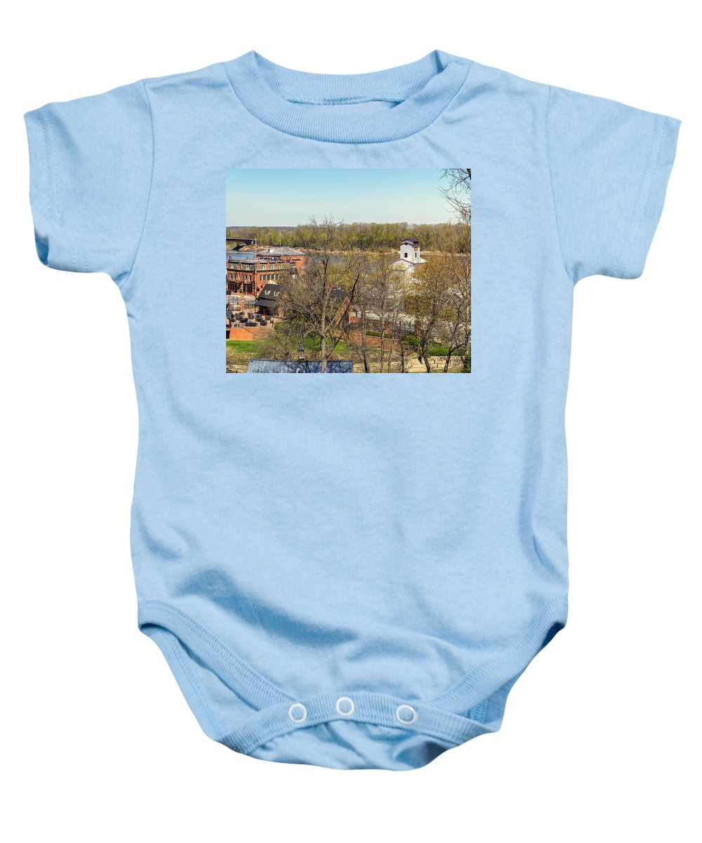 Hermann Baby Onesie featuring the photograph 3-hermann Mo Triptych Right_dsc3992 by Greg Kluempers