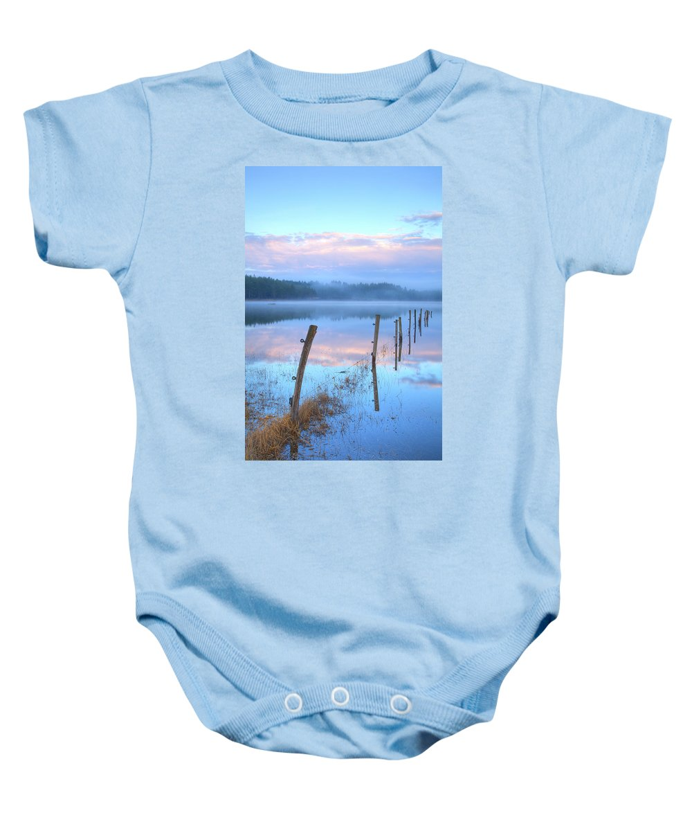 Seasonal Baby Onesie featuring the photograph Palsko Lake by Ian Middleton