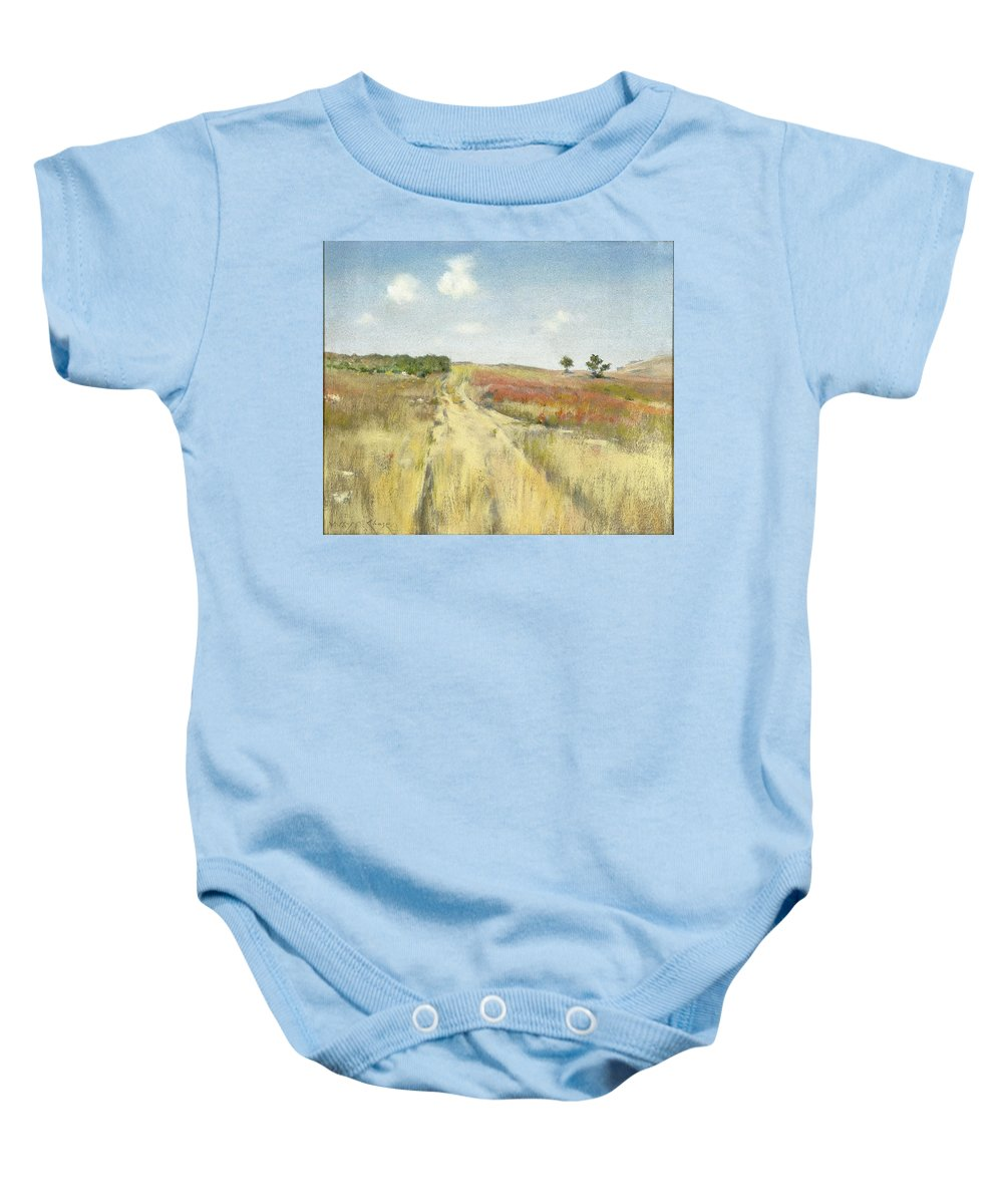 William Merritt Chase (american Baby Onesie featuring the painting Shinnecock Hills by William Merritt