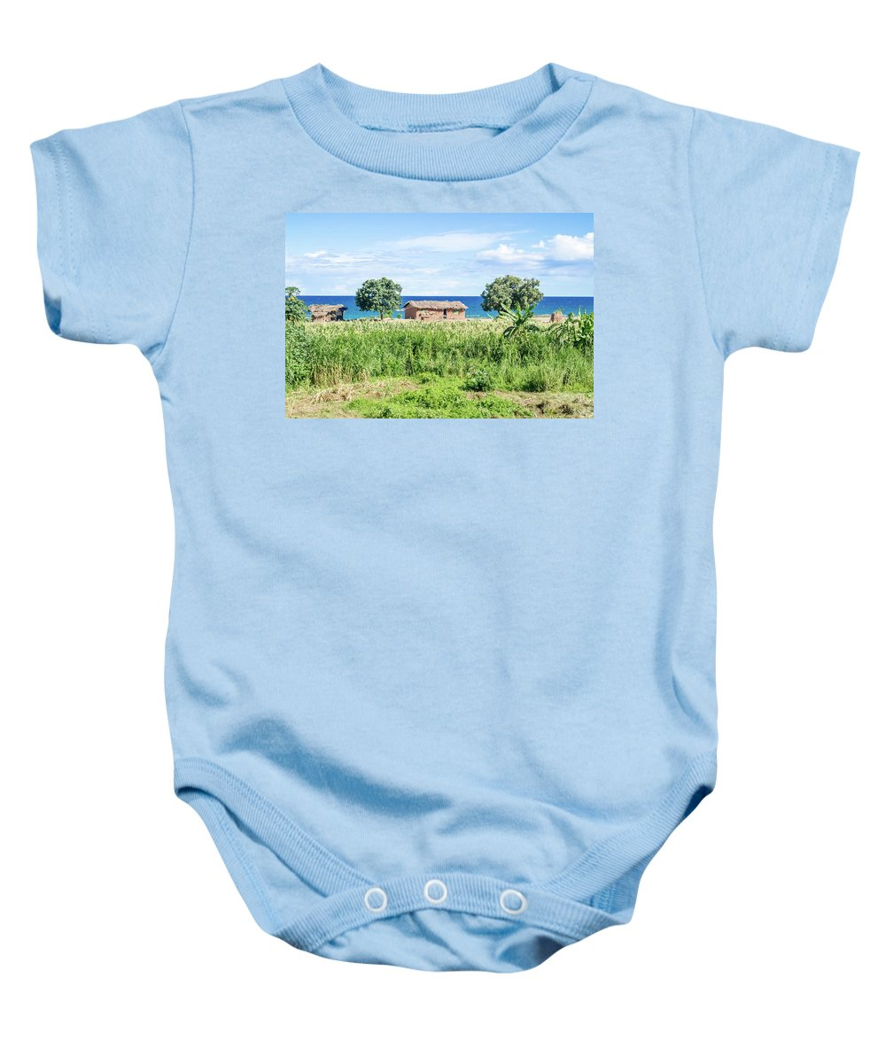 Lake Baby Onesie featuring the photograph Landscape At The Lake Malawi by Marek Poplawski