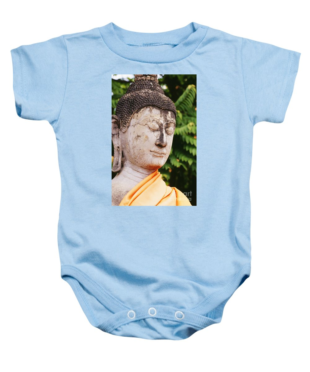 Ancient Baby Onesie featuring the photograph Thailand, Ayathaya by Bill Brennan - Printscapes