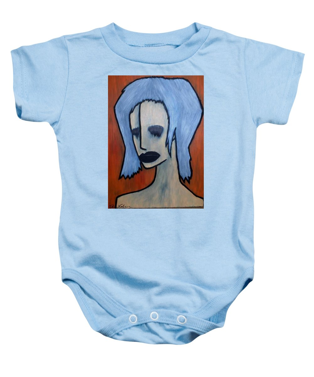 Potrait Baby Onesie featuring the painting Halloween by Thomas Valentine