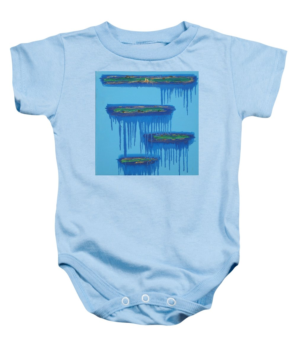 4 Levels Baby Onesie featuring the painting 4levels4fellings4you by Sitara Bruns