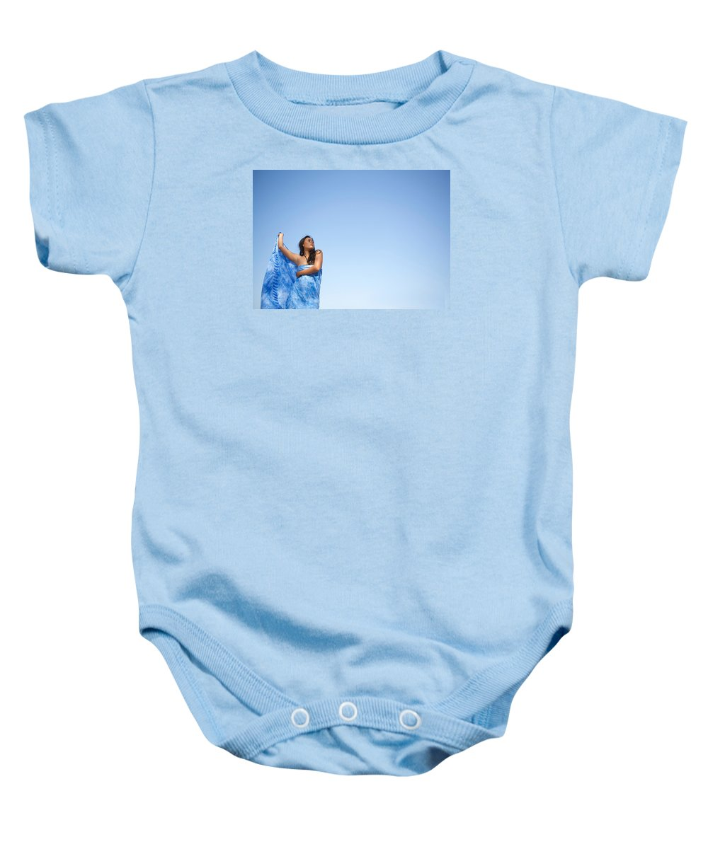 Indonesian Woman Baby Onesie featuring the photograph Woman In Sarong by Norman Quinn