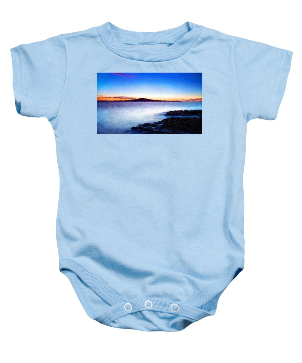 Landscape Baby Onesie featuring the painting Landscape Definition Nature by World Map