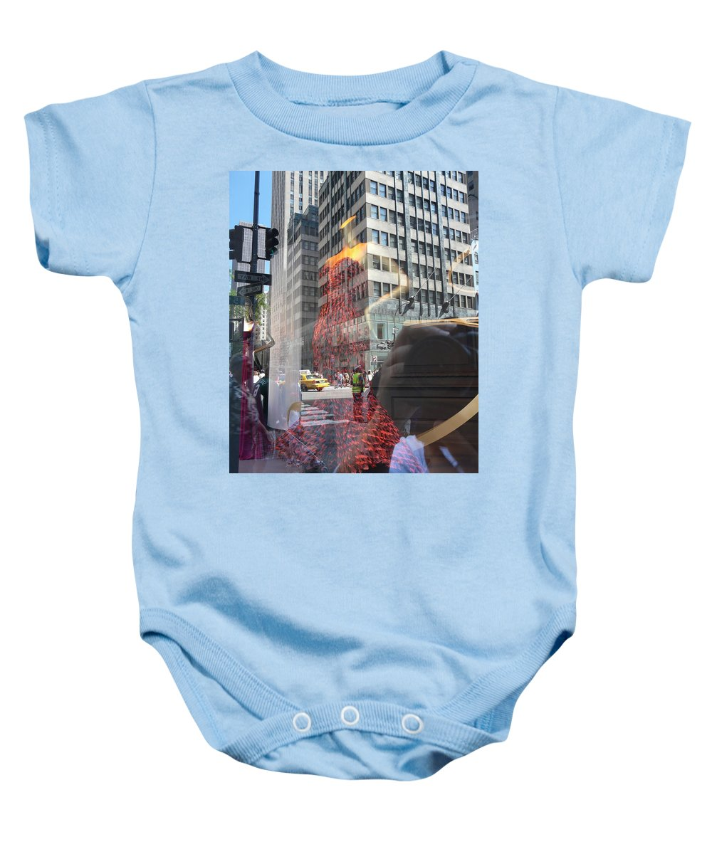 New York Baby Onesie featuring the photograph 5th Avenue by Valerie Ornstein