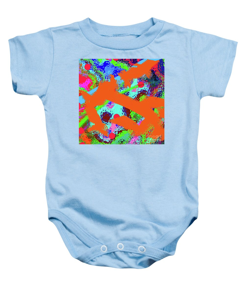 Walter Paul Bebirian Baby Onesie featuring the digital art 6-17-2015gab by Walter Paul Bebirian
