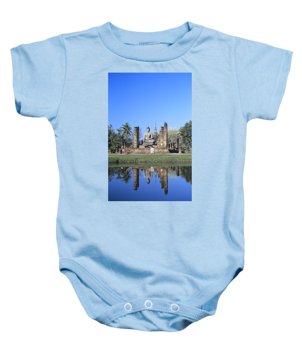 Ancient Baby Onesie featuring the photograph Wat Mahathat by Gloria & Richard Maschmeyer - Printscapes