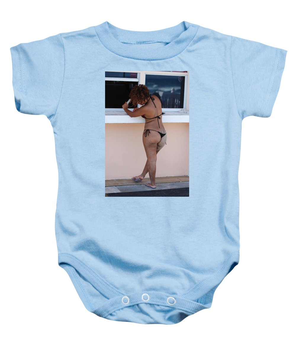 Portriat Baby Onesie featuring the photograph L W Thong by Rob Hans