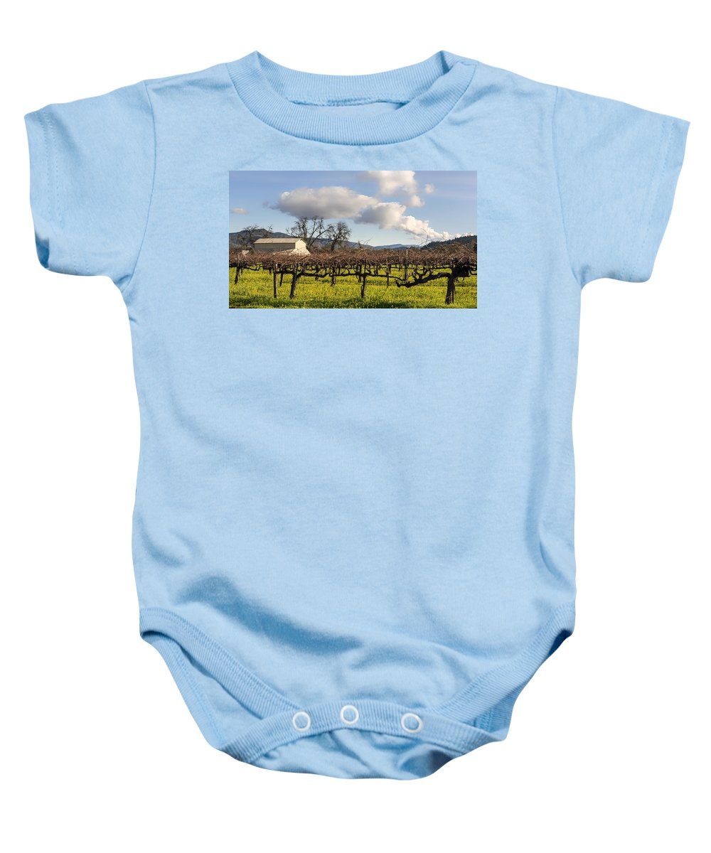 Napa Valley Baby Onesie featuring the photograph Napa Valley Vineyard by Mountain Dreams