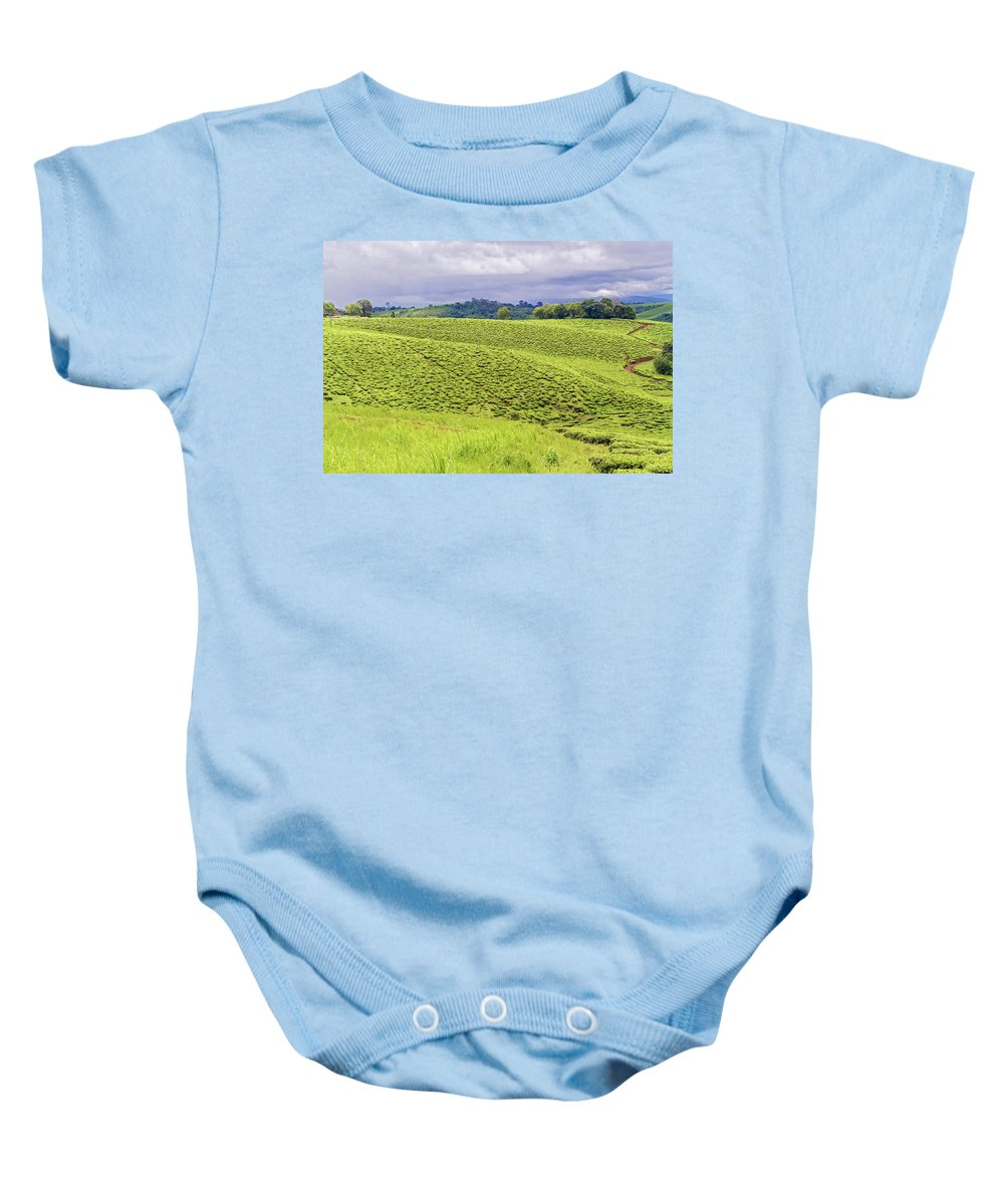 Road Baby Onesie featuring the photograph Rural Landscape In Tanzania by Marek Poplawski