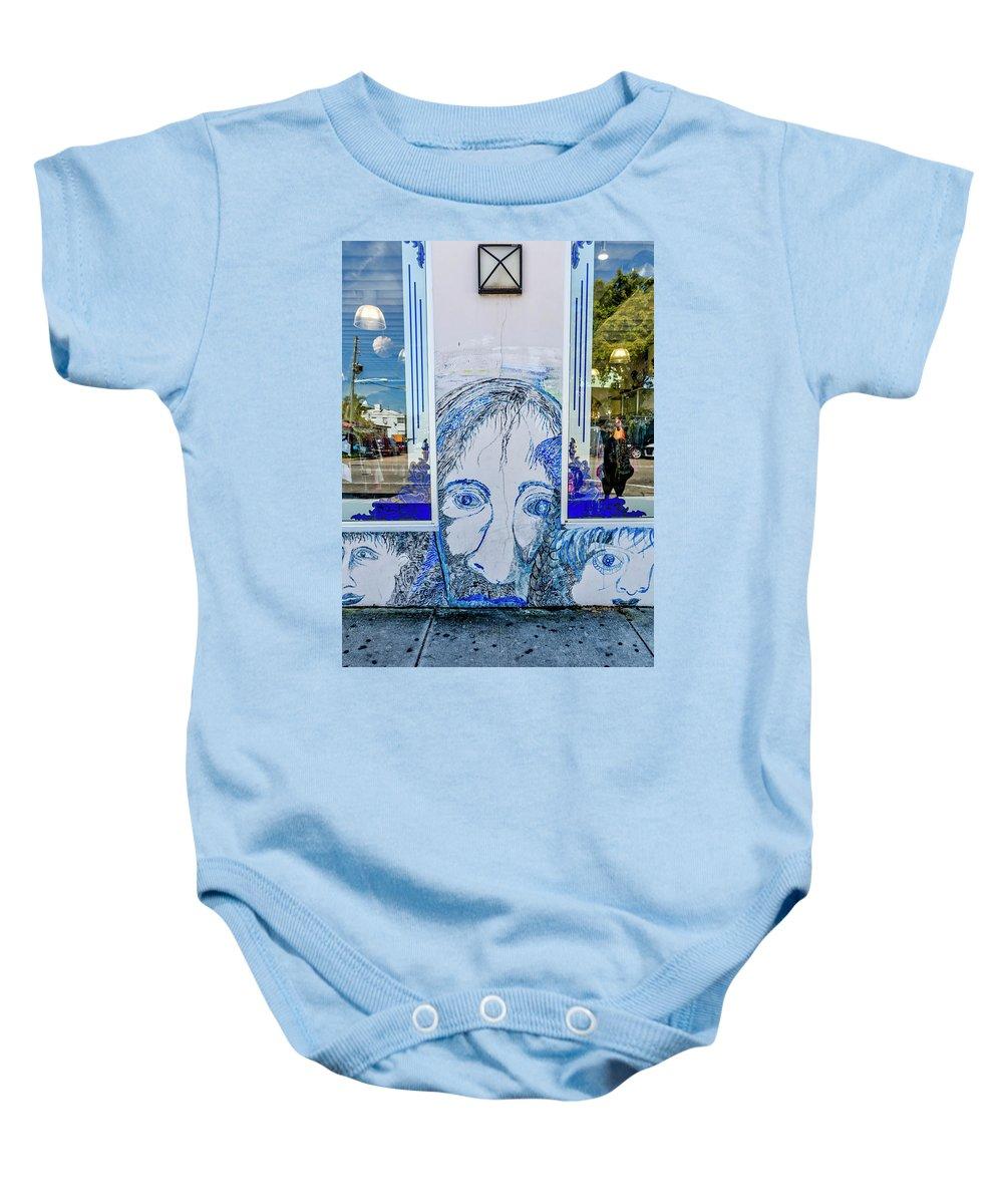 Florida Baby Onesie featuring the photograph 8261- Little Havana Mural by David Lange