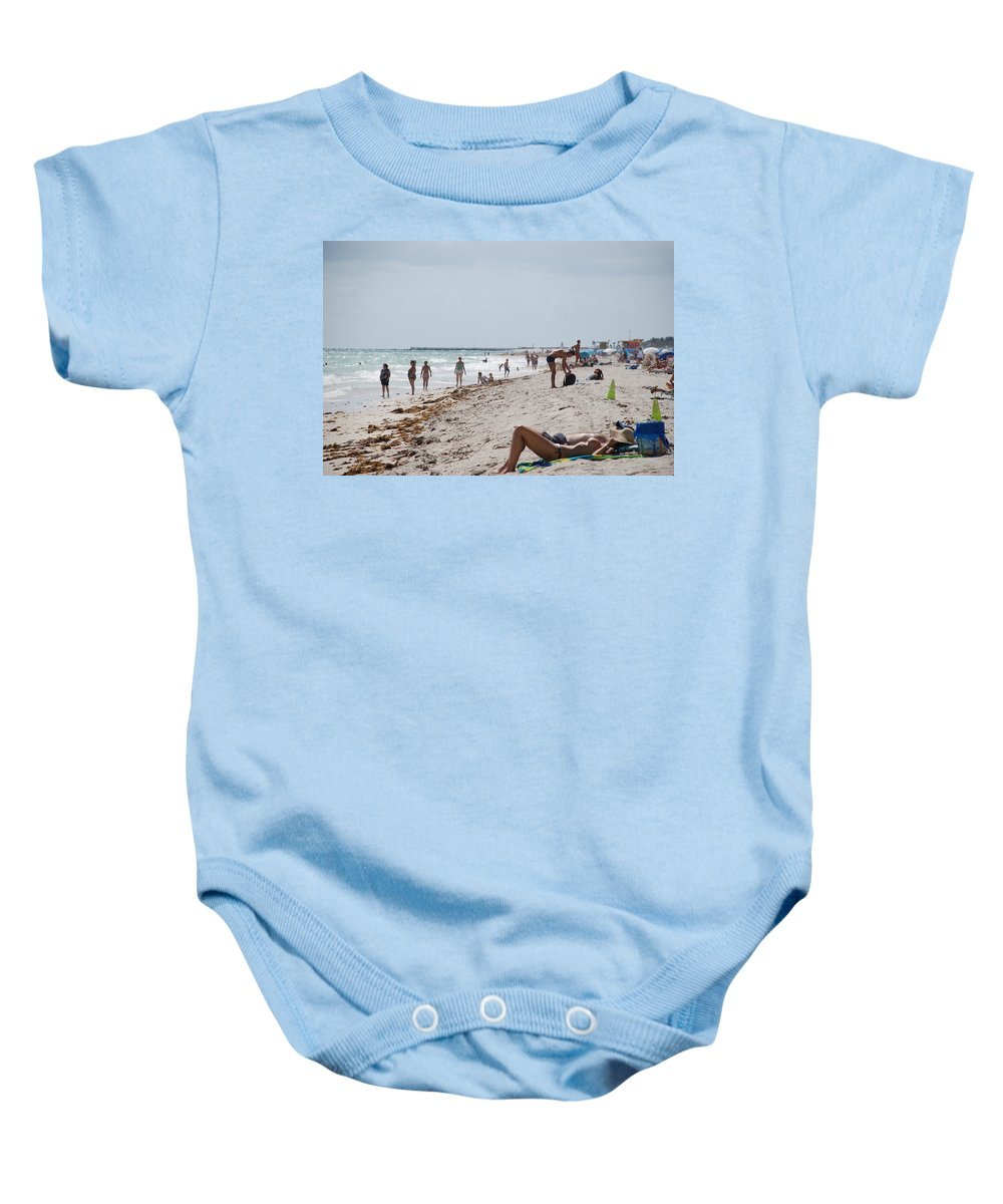 Nude Baby Onesie featuring the photograph A Day At Paradise Beach by Rob Hans