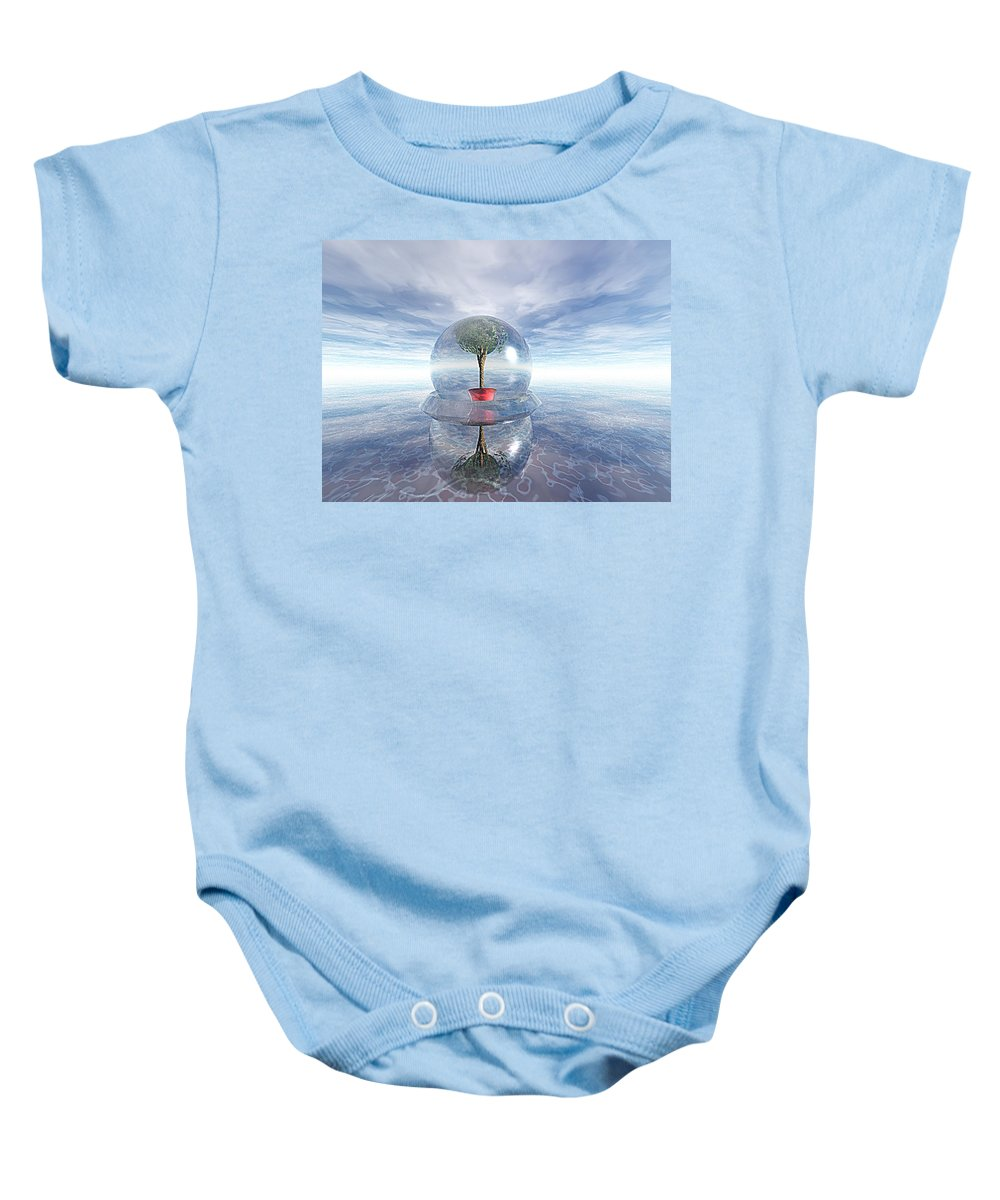 Surreal Baby Onesie featuring the digital art A Healing Environment by Oscar Basurto Carbonell